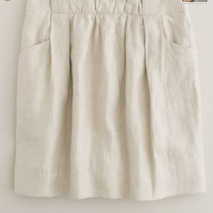 J. Crew Ivory Linen Mini Skirt